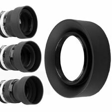 52/58mm 3-Stage 3 in1 Collapsible Rubber Foldable Lens Hood 52/58 mm DSIR Lens f