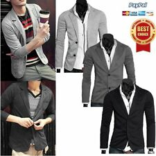 New Stylish Men's Casual Slim Fit Two Button Suit Blazer Coat Jacket Tops EW
