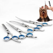 "6"" 7"" Professional Pet Dog Grooming Scissors Cutting Thinning Curved Shears New"