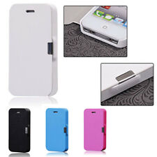 Pink Magnetic Flip Leather Hard Skin Pouch Wallet Case Cover For iPhone 5 5S 5G