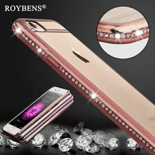 Roybens Luxury Bling Diamond Case For iPhone 7 8 Plus Transparent Soft TPU RoseG