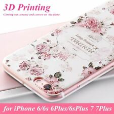 WeiFaJK Girl Phone Case for iPhone 6 Cases for iPhon 5 5s 6s 7 Plus 3D Flower So