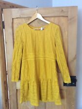 H & M DIVIDED MUSTARD LACE STYLE DRESS SIZE 14