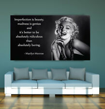 LARGE Marilyn Monroe motivational quote POSTER wall art