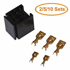 2/5/10 pack of 80A Relay Connector 5-Pin Mounting Socket Base with 5 Terminals