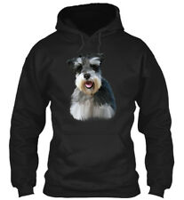 Miniature Schnauzer Dog Art Portrait Gildan Hoodie Sweatshirt