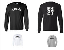 City of Kansas Custom Personalized Name & Number Long Sleeve Jersey T-shirt