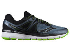 NEW MENS SAUCONY TRIUMPH ISO 3 RUNNING SHOES GREY / BLACK / SLIME