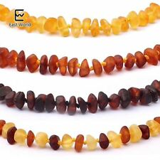 EAST WORLD Raw Unpolished Amber Bracelet/Necklace Baltic Natural Amber Beads Bab