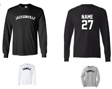 City Jacksonville Custom Personalized Name & Number Long Sleeve Jersey T-shirt