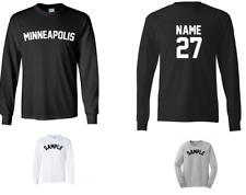 City of Minneapolis Custom Personalized Name & Number Long Sleeve Jersey T-shirt