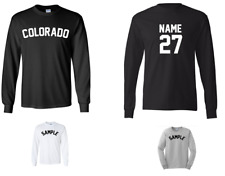 City of Colorado Custom Personalized Name & Number Long Sleeve Jersey T-shirt