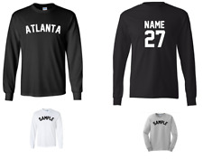 City of Atlanta Custom Personalized Name & Number Long Sleeve Jersey T-shirt