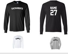 City of Sacramento Custom Personalized Name & Number Long Sleeve Jersey T-shirt