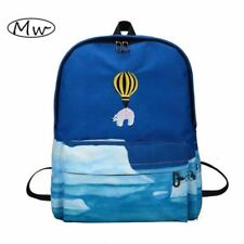 Newest Design Fire Ballon Animal Embroidery Backpack 3D Landscape Printing Backp