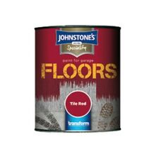 JOHNSTONES GARAGE FLOOR PAINT  750 ML & 2.5LT  FULL RANGE OF COLOURS SEMI GLOSS