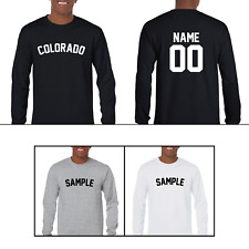 State of Colorado Custom Personalized Name & Number Long Sleeve Jersey T-shirt