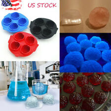 Silicone Brain Shape Ice Freeze Cube Tray Maker Mold Mould Halloween Party Drink
