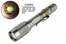 8000LM CREE T6 LED Flashlight Tactical Torch 18650 Zoomable 5 modes for Hunting