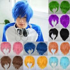 Unisex Cosplay Hair Wig Short Halloween Fashion Anime Party Fancy Dress Full Wig