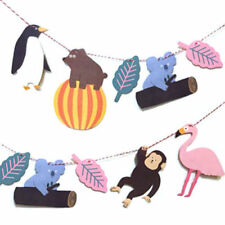 Zoo/Animal Bunting Banner Garland Party Christening Decoration