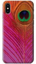 Pink Peacock Feather Phone Case for iPhone X 8 7 6 5 4 Plus SE 5c 6s 5s 4s +