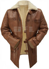 Bane Batman Dark Knight Men Tom Hardy Brown Fur Trench Leather Long Coat Jacket