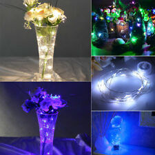 MICRO LED BATTERY OPERATED CLEAR COPPER STRING FAIRY LIGHT XMAS WEDDING PARTY UK