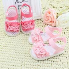 Baby Kid Girl Soft Sole Crib Toddler Infant Summer Princess Sandals Shoes 0-18M