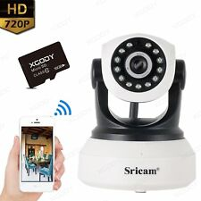 Wifi HD 720P IP Camera night vision Home Security CCTV System PTZ +16G SD Card
