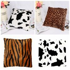 Animal Printed Throw Pillow Case Sofa Short Plush Cushion Cover Home Decoration