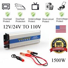 Portable Car Power Inverter 3000W WATT DC 12V 24V to AC 110V Charger Converter