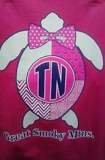 SMOKY MOUNTAIN TURTLE COLOR T-SHIRT ~ COLOR TURTLE T-SHIRT ~ SIZE SELECT