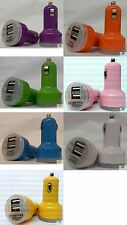 Universal Dual USB Cable Car Cigarette Lighter Charger Adapter 2 Double