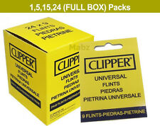 Large Clipper Universal Flints for Petrol Zippo Clipper Lighters Pack of 9