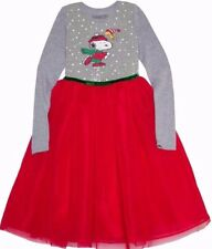 Girls Peanuts Sequin Snoopy Woodstock Christmas Dress Layered Skirt XS L XL