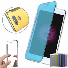 Luxury Mirror Reflective Smart View Clear Flip Protective Case For LG G6 G5 G4