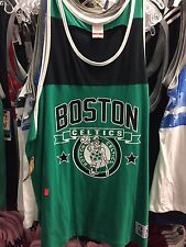 Boston Celtics Mitchell and Ness Green/Black Tank Top