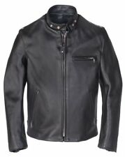 NWT SCHOTT NYC BLACK 641 Single Rider Steerhide Leather Motorcycle Jacket Coat