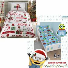 Kids Character Christmas Duvet Cover Bedding Bed Sets - Junior Bed & Single Size