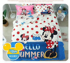 * Minnie Mouse Hello Summer Single Bed Quilt Cover Set - Flat or Fitted Sheet *