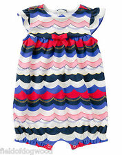 NWT Gymboree By The Seashore Wave Romper Knit 12 24 mo Baby Girl