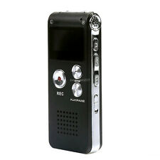 8/16GB USB Rechargeable Digital Sound Voice Recorder MP3 Player Telephone
