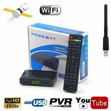 Freesat V7 HD Wifi DVB-S2 HD Satellite TV Receiver with USB  Support PowerVu Bis