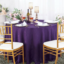 """Wedding Linens Inc. 120"""" Round Damask Jacquard Polyester Tablecloths Table Cover"""