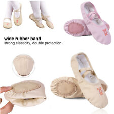 Child Kids Girls PU Leather Ballet Pointe Dance Shoes Slippers Gymnastics Shoes