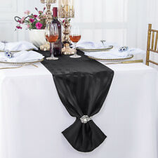 "Wedding Linens Inc. 12"" x 108"" Striped Jacquard Damask Polyester Table Runners"