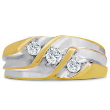 14K TWO-TONE GOLD  1/2CT DIAMOND MEN'S RING-  ALSO AVAILABLE IN 10K GOLD