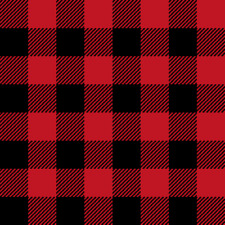 Plaid buffalo plaid black and red kids cute Fabric Printed by Spoonflower BTY