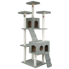 "108"" Cat Tree Tower Condo Furniture Scratching Post Pet Kitty Play House Toy"